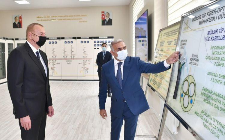 Президент Ильхам Алиев принял участие в открытии подстанции «Бузовна-1» в Хазарском районе - ФОТО