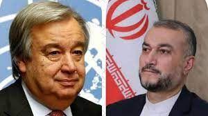 Iran FM, UN Guterres discuss JCPOA, Afghanistan, terrorism