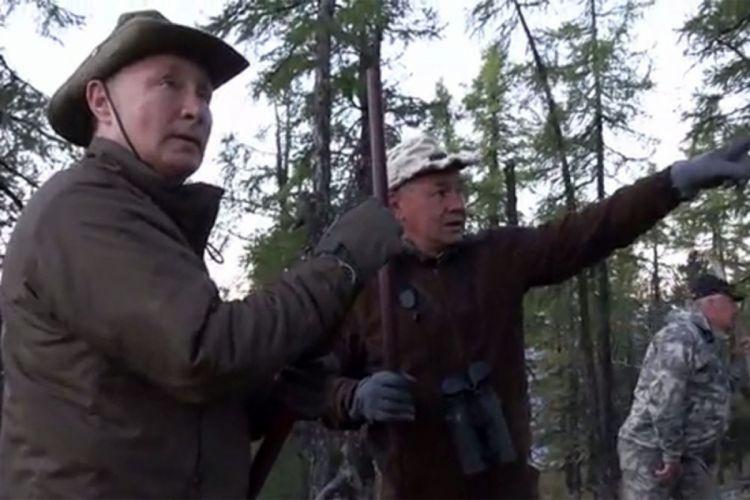 Опубликованы кадры отдыха Путина в тайге - ВИДЕО