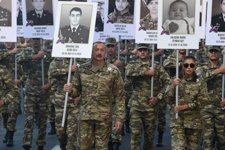 March on memory of martyrs, with attendance of Azerbaijani President, and First Lady held in Baku - PHOTOS