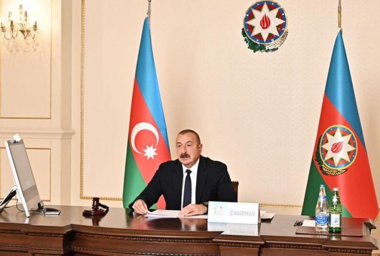 كلمة فخامة/ إلهام علييف، رئيس جمهورية أذربيجان، رئيس حركة عدم الإنحياز في الإفتتاح الرسمي للإجتماع رفيع المستوى عبر الإتصال المرئي