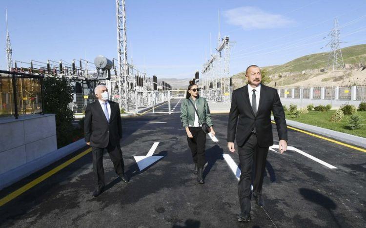 Президент и первая леди посетили Губадлинский район - ФОТО