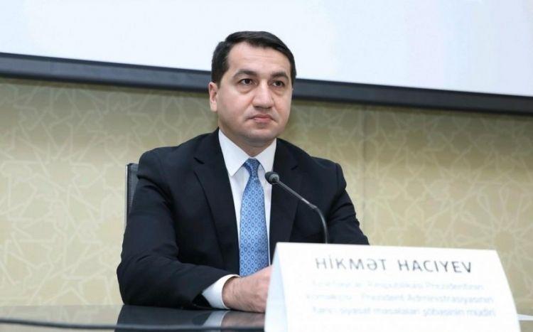 Хикмет Гаджиев: В результате уничтожения армянского фашизма в регионе установился новый режим безопасности
