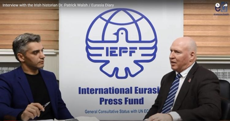 Armenian narratives are much heard in the West world - Interview with Dr Patrick Walsh - VIDEO